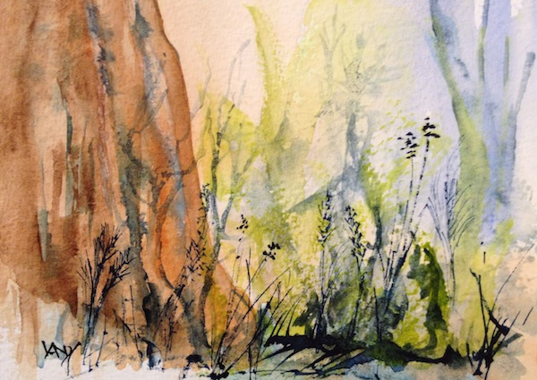 Painting Forest Floor Watercolour Painting Forest
