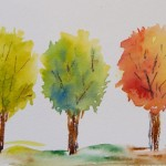 Watercolour painting. Spring, summer, autumn (RWB0081)