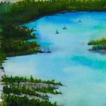 Watercolour painting. Alpine Lake (RWB0098) Artist: Vandy Massey