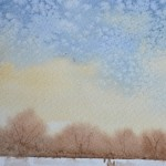 watercolour painting. SBA008 Winter Calm. Artist: Sue Bradley