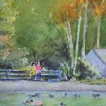 watercolour painting. SBA009 Kelsey Park. Artist: Sue Bradley