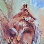 watercolour painting. SBA010 Kangas. Artist: Sue Bradley